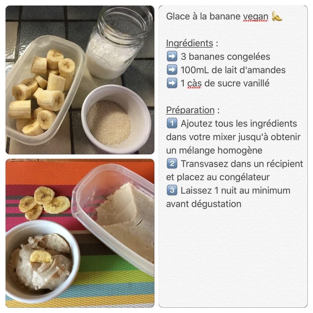 Recette de glace à la banane vegan