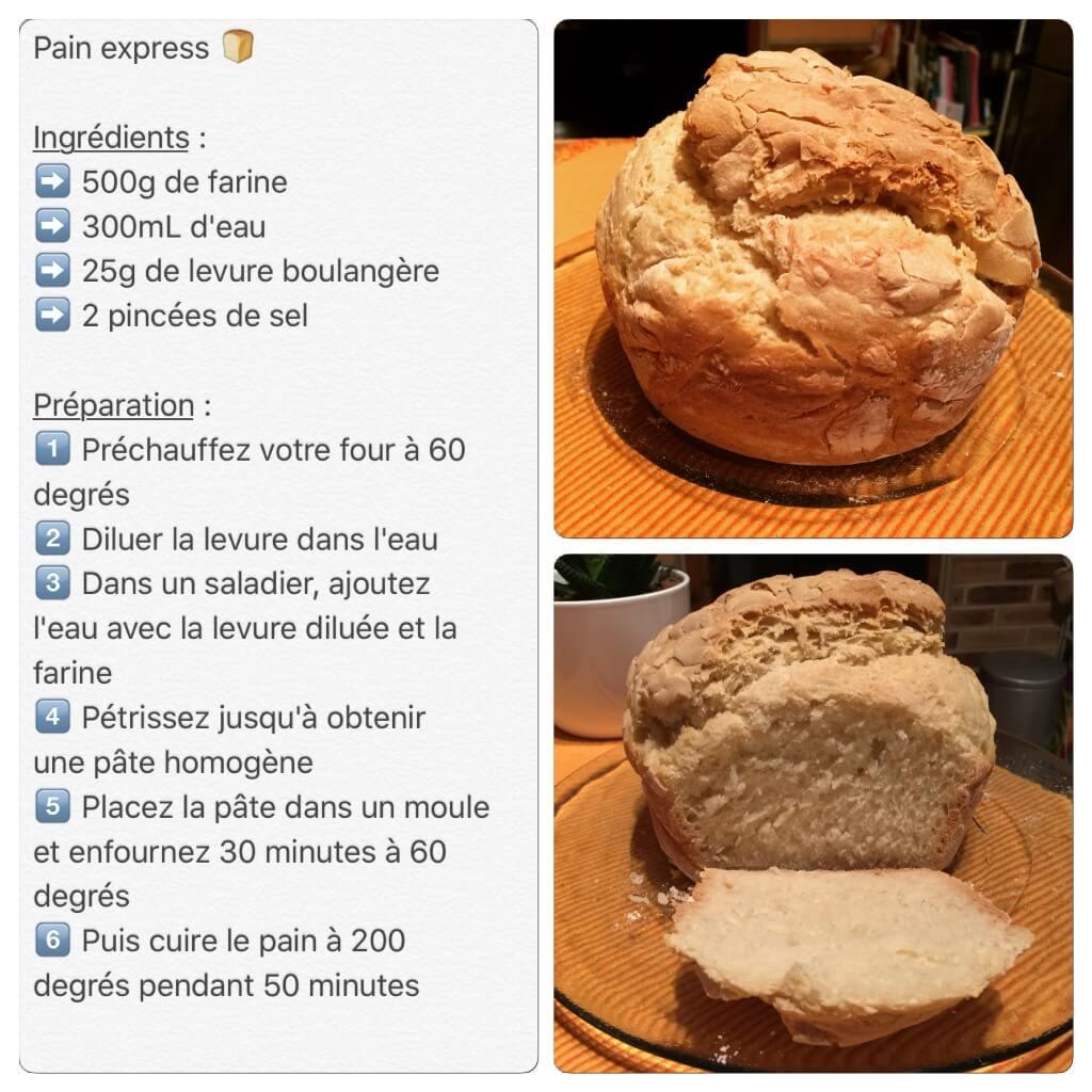 Recette de pain express