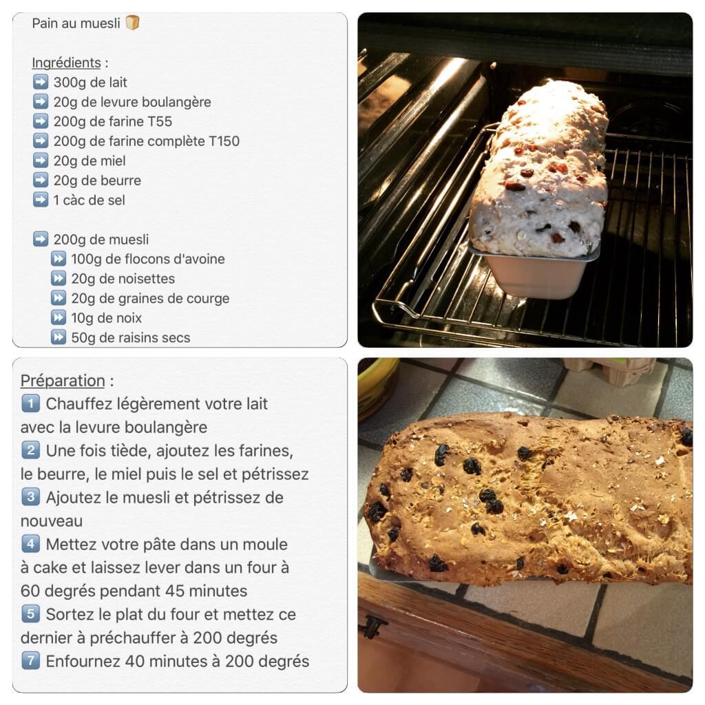 Recette de pain au muesli inspirée d'une recette Thermomix