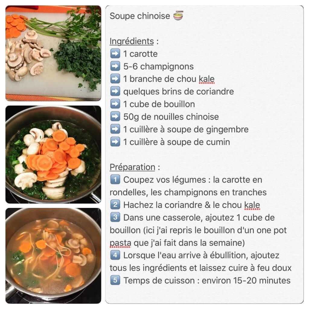 Recette de soupe chinoise