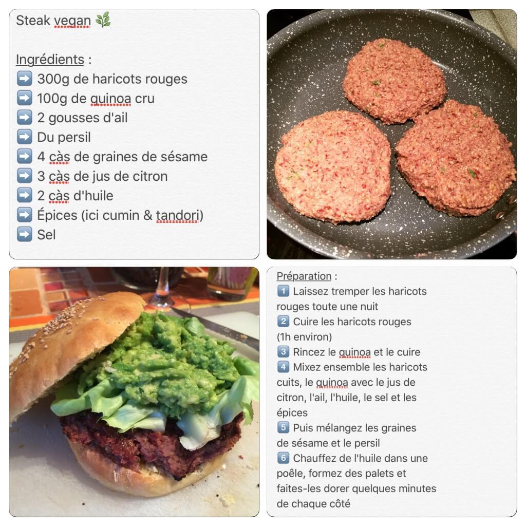 Recette de steak vegan