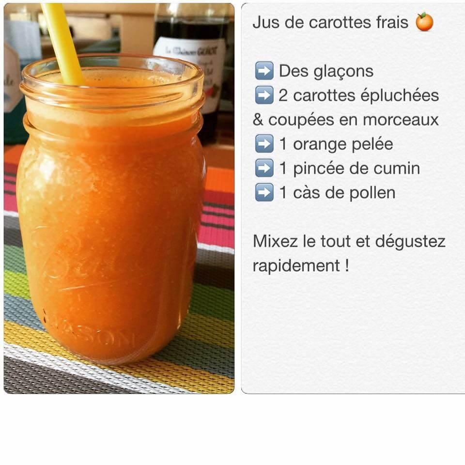 Recette de smoothie à la carotte