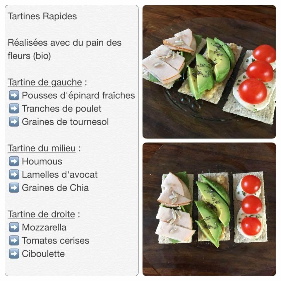Recette de tartines au pain des fleurs / sans gluten