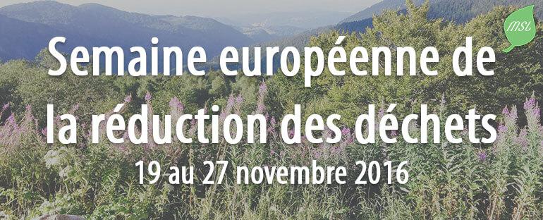 Semaine européenne de réduction des déchets 2016