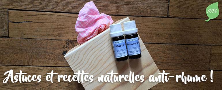 Astuces et recettes naturelles anti-rhume