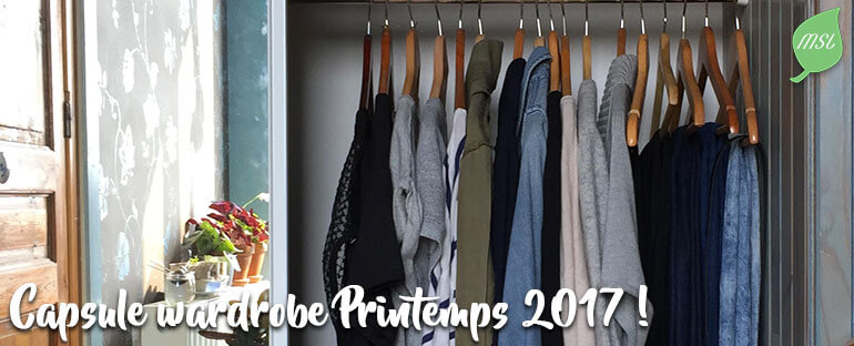 Capsule wardrobe et projet 333 pour le printemps 2017