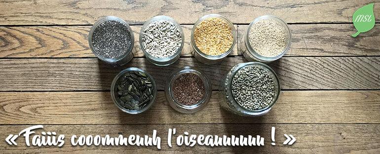 Consommer des graines pour une alimentation saine