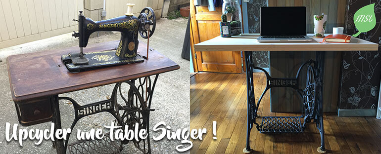 Upcycling machine à coudre Singer