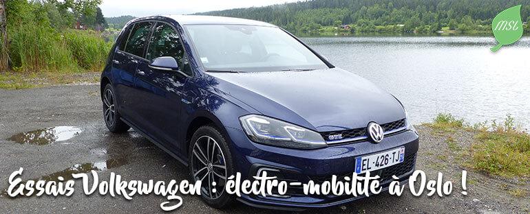 Essais des véhicules électriques et hybrides de Volkswagen
