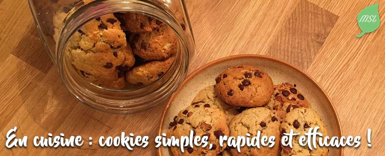 Recette de cookies sans beurre