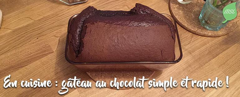 Recette de gâteau au chocolat zéro déchet