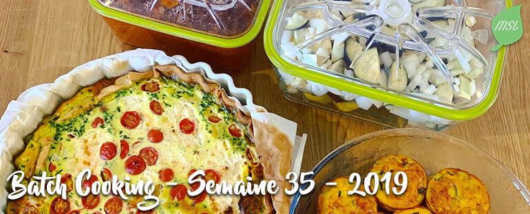 Batch Cooking - Semaine 35 - 2019