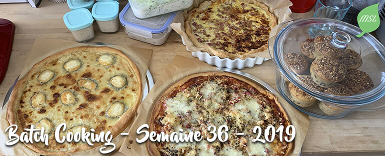 Batch Cooking - Semaine 36 -2019