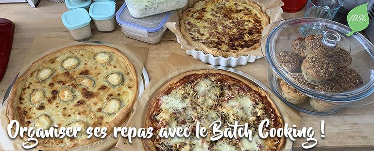 Organisation des repas avec le Batch Cooking